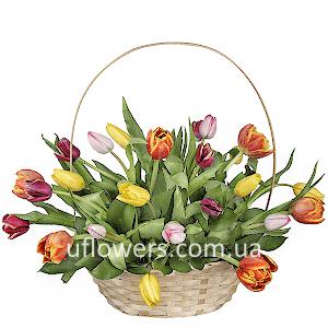 Корзина цветов Калейдоскоп
